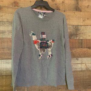 NWT Joules gray llama embellished sweater, size 10